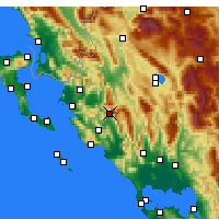 Nearby Forecast Locations - Paramythia - Map