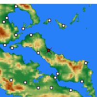 Nearby Forecast Locations - Mandoudhion - Map