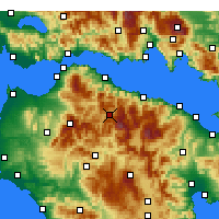 Nearby Forecast Locations - Kalavryta - Map