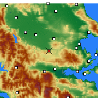 Nearby Forecast Locations - Domokos - Map