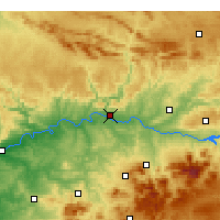 Nearby Forecast Locations - Andújar - Map