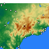 Nearby Forecast Locations - Ronda - Map