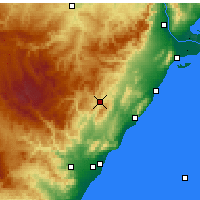 Nearby Forecast Locations - Albocàsser - Map
