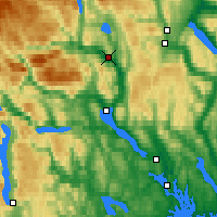 Nearby Forecast Locations - Notodden - Map