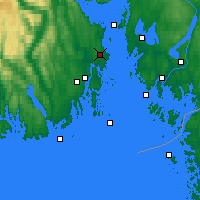 Nearby Forecast Locations - Oseberg - Map