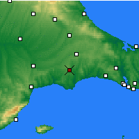 Nearby Forecast Locations - Çorlu - Map