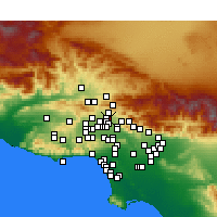 Nearby Forecast Locations - San Fernando - Map
