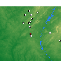 Nearby Forecast Locations - Alabaster - Map