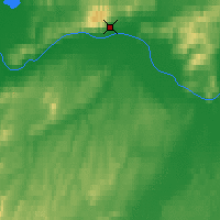 Nearby Forecast Locations - Manley Hot Springs - Map