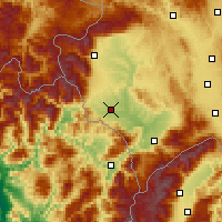 Nearby Forecast Locations - Gjakova - Map