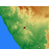 Nearby Forecast Locations - Bitterfontein - Map