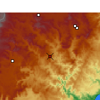 Nearby Forecast Locations - Mount frere - Map