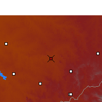 Nearby Forecast Locations - Senekal - Map