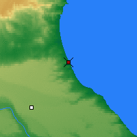 Nearby Forecast Locations - Caleta Olivia - Map