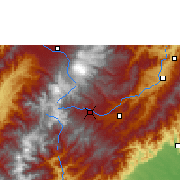 Nearby Forecast Locations - San Agustín - Map