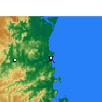 Nearby Forecast Locations - Itajaí - Map