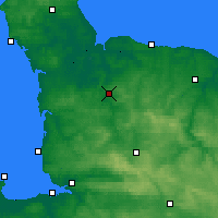 Nearby Forecast Locations - Saint-Lô - Map