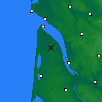 Nearby Forecast Locations - Lesparre-Médoc - Map