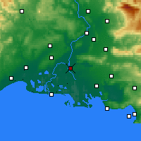 Nearby Forecast Locations - Arles - Map