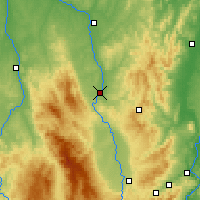 Nearby Forecast Locations - Roanne - Map