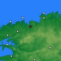 Nearby Forecast Locations - Morlaix - Map