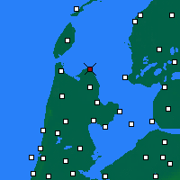 Nearby Forecast Locations - Den Oever - Map