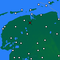 Nearby Forecast Locations - Kollumerland en Nieuwkruisland - Map
