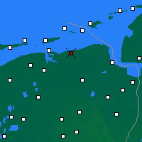 Nearby Forecast Locations - Pieterburen - Map