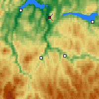 Nearby Forecast Locations - Vassfjellet - Map