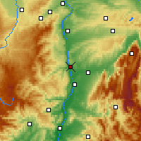 Nearby Forecast Locations - Tain-l'Hermitage - Map
