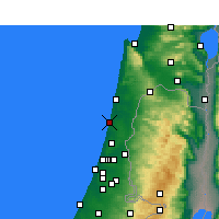 Nearby Forecast Locations - Netanya - Map