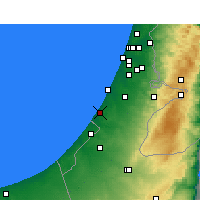 Nearby Forecast Locations - Ashkelon - Map