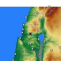 Nearby Forecast Locations - Karmiel - Map