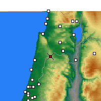 Nearby Forecast Locations - Umm al-Fahm - Map