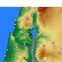 Nearby Forecast Locations - Tiberias - Map