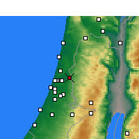 Nearby Forecast Locations - Kafr Qasim - Map