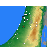 Nearby Forecast Locations - Kfar HaRif - Map