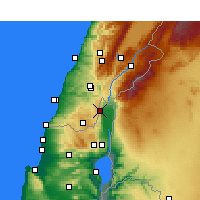 Nearby Forecast Locations - Kiryat Shmona - Map