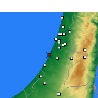 Nearby Forecast Locations - Ashdod - Map