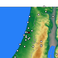 Nearby Forecast Locations - Petah Tikva - Map