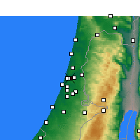 Nearby Forecast Locations - Bnei Brak - Map