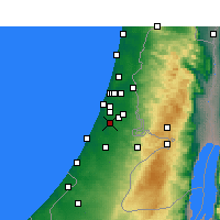 Nearby Forecast Locations - Rehovot - Map