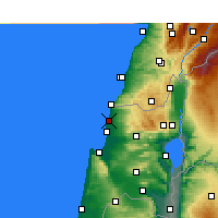 Nearby Forecast Locations - Nahariya - Map