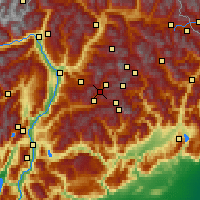 Nearby Forecast Locations - Moena - Map