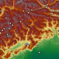 Nearby Forecast Locations - Cadore - Map