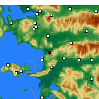 Nearby Forecast Locations - Selçuk - Map