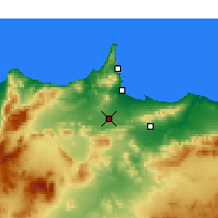Nearby Forecast Locations - Nador - Map