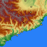 Nearby Forecast Locations - Fontan - Map