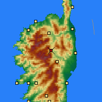 Nearby Forecast Locations - Corte - Map