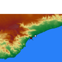 Nearby Forecast Locations - Mukalla - Map